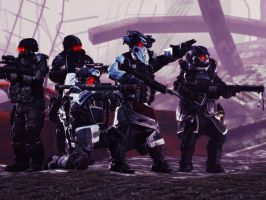 Helghast Recon Team by quinoproductions