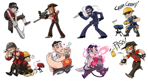 TF2 chibis by Owlys