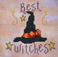 Best Witches cross stitch by merrywether