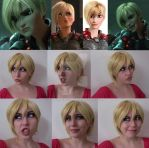 test-cosplay-makeup-expressions-wig CALHOUN by CynShenzi