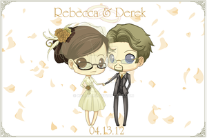 Commission: BD Chibi Wedding Invite by Kalisama