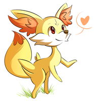 Fennekin by deedledove