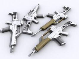 G-36K and wrapped guns by senor-freebie