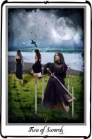Tarot- five of swords by azurylipfe