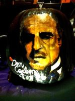 Don Corleone Pumpkin by sallysayuri
