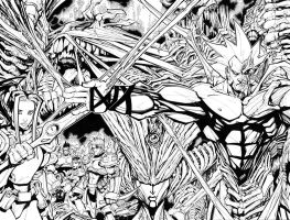 MY BABY COVER 1 INKS by Sandoval-Art