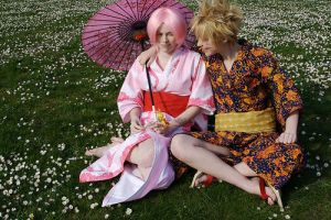 NaruSaku:: Come here often? by winged-maniac
