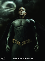 Obama Art Batman er Obamaman by Alegion