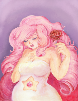 Rose Quartz Portrait by otter-faerie