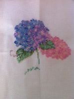 WIP - Hydrangeas Feb progress by KittyDragon