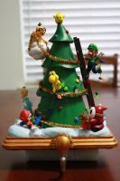 Mario Christmas Tree Figure by kodykoala