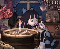 Stocking Eating Candy by Lilak-rain