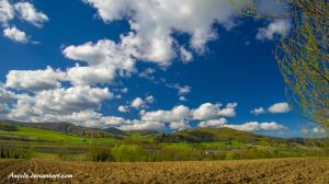 Blue Sky for the hills by Aneede