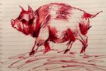 Wolf swags pig by Attackonrice