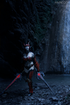 Blade Dancer! Dark Elf in draconic- Lineage II 3 by dani-foca