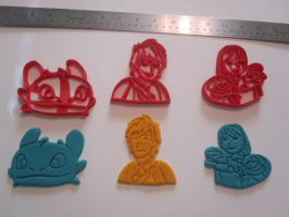 How to Train Your Dragon Cookie Cutter Set by B2Squared