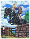 Vegeta - Trunks + Horse - Cow by Villa-Chinchilla
