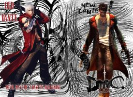 Old Dante VS New Dante by Taurimaru