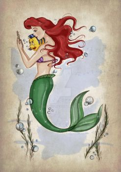 Ariel and Flounder by Fulvio84