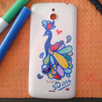 Look what I did on my phone's back side XD by ShadowDash1356