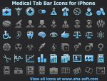 Medical Tab Bar Icons by Iconoman