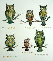 Owls by MagpieCatso