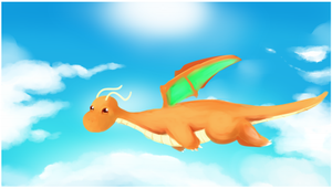 Fly Dragonite by pikaato