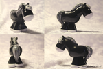 Comic black horse by AnimalisCreations