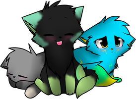 .:pc:. the three little chibi kitties by Mindy-cupcake