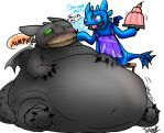 Toothless getting Stuffed by Baron by Tubby-the-Raichu