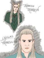 Thranduil and Legolas by DennisB-Art
