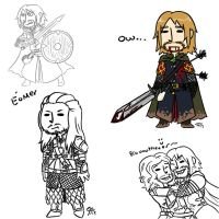 Tumblr LotR sketch dump by roseannepage