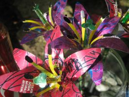Recycled Multicolor Lilies3 by Christine-Eige