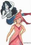 Marceline and FP by PitterParter