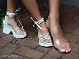 Mikayla Miles foot compare by lowerrider