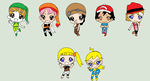 Kim's friends as the 7 Harvest Sprites by StarQueen22