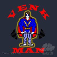 GB - VENK-MAN GYM SHIRT by btnkdrms