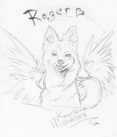 New Wings for Roger lineart by SilverSugar