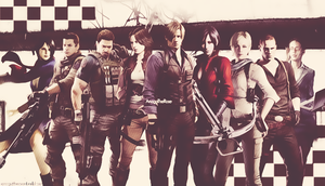 Resident Evil 6 Wallpaper by AnogaTheRose