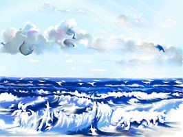 Morning Song of the sea and sun by HelaLe