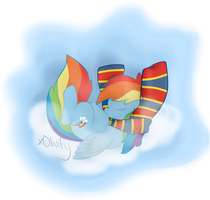 Rainbow Snuggles by xOlivify