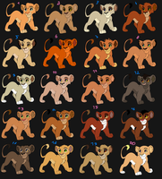 20 Cubs adoptables ~open~ by Onee-Katty