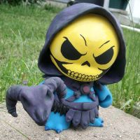 Skeletor Munny by lordzasz