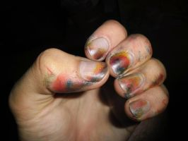 Painted nails by AmineShow