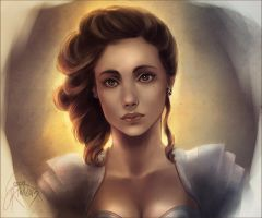 Young Lady by GreenKiwiArt