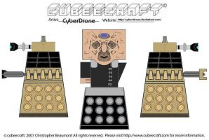 Cubeecraft-Davros and Daleks by CyberDrone