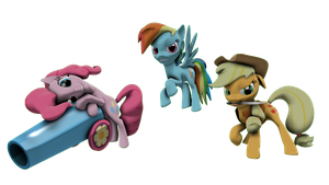 Equestria's Judgment Pinkie, Dash and AJ by FD-Daylight