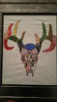 Embroidered Deer Head by carriebear79