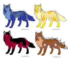 Wolf Adopts 3 ::CLOSED:: by DappleFeather