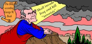 God told me to invade Iraq by Latuff2
